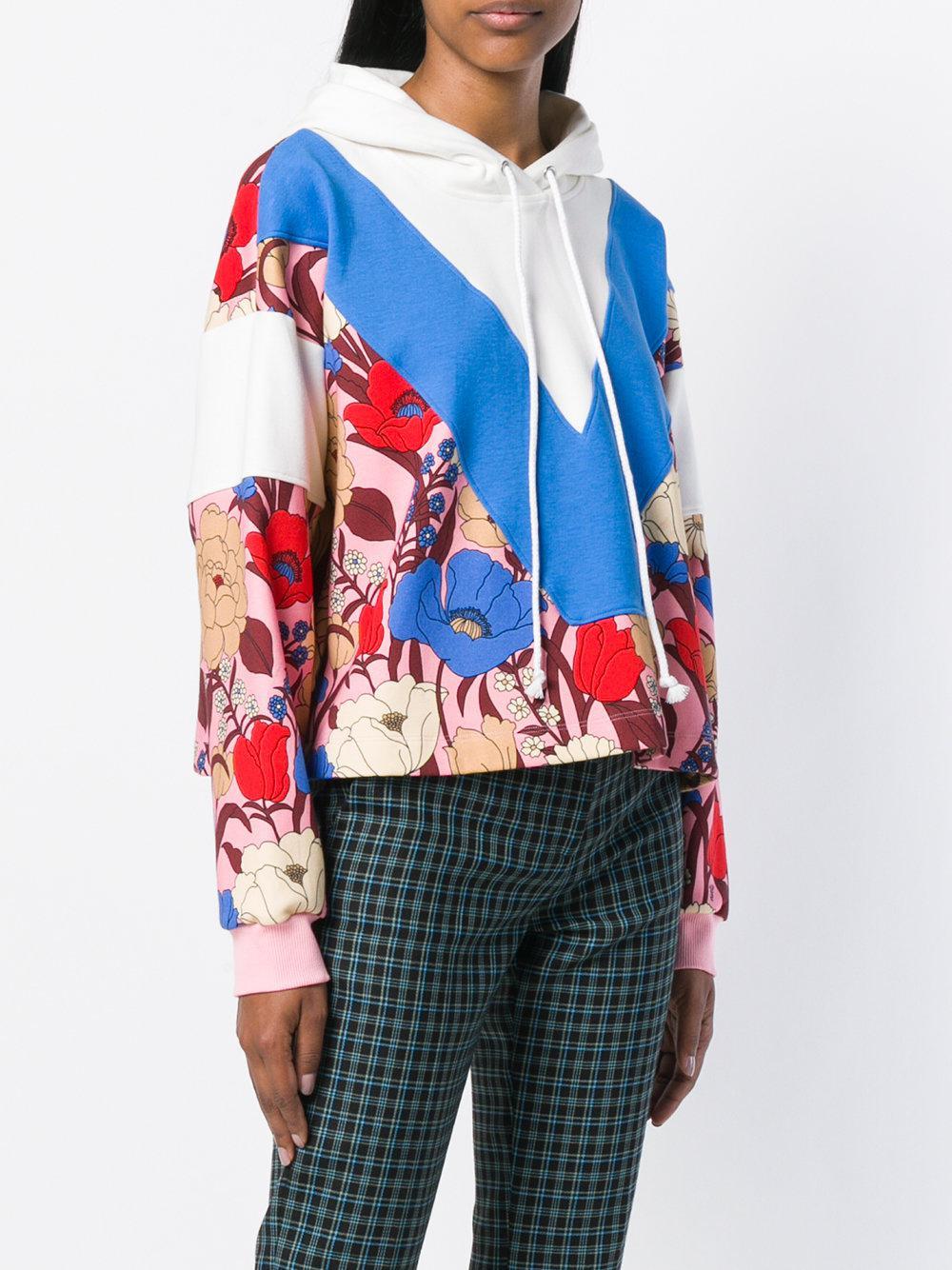 Cheap 2018 Newest Fast Delivery Sale Online Vivetta chevron printed hoodie uMu7rwE