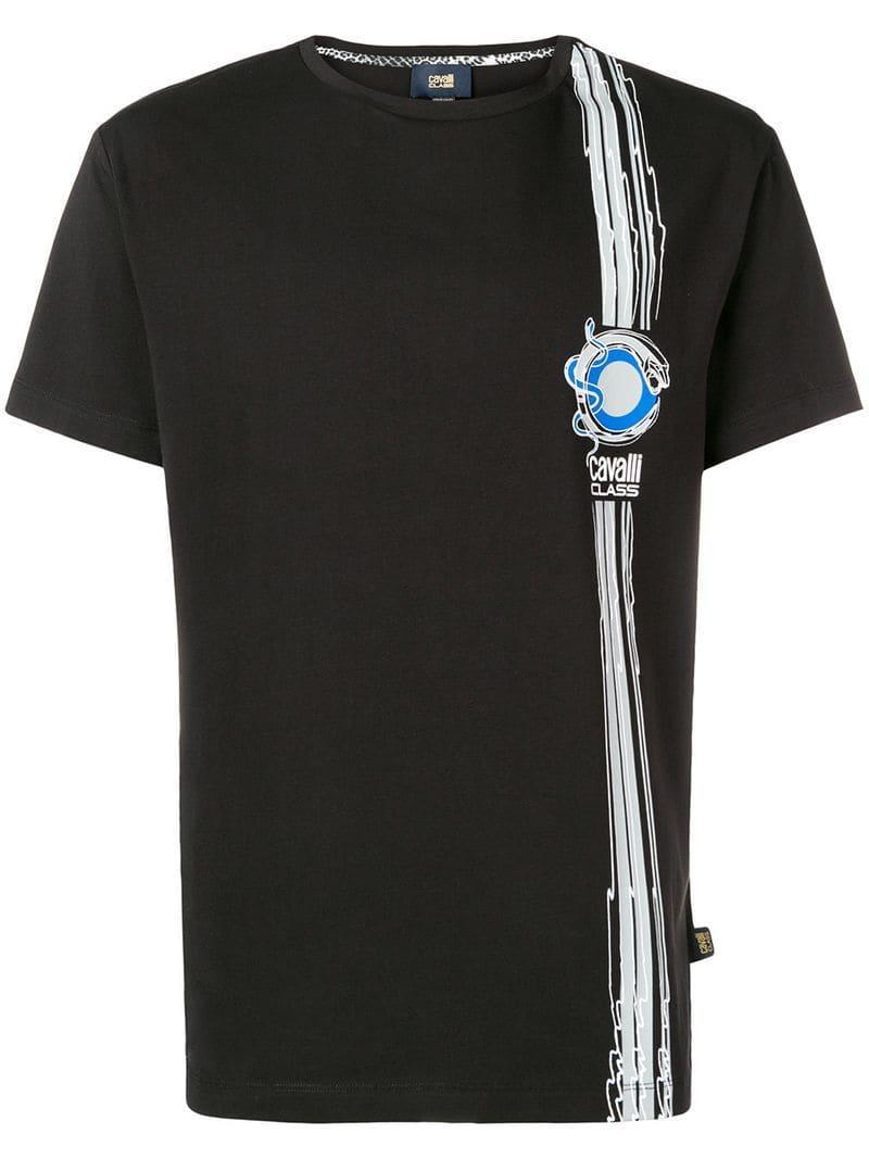 85661e182 Lyst - Class Roberto Cavalli Logo Print T-shirt in Black for Men