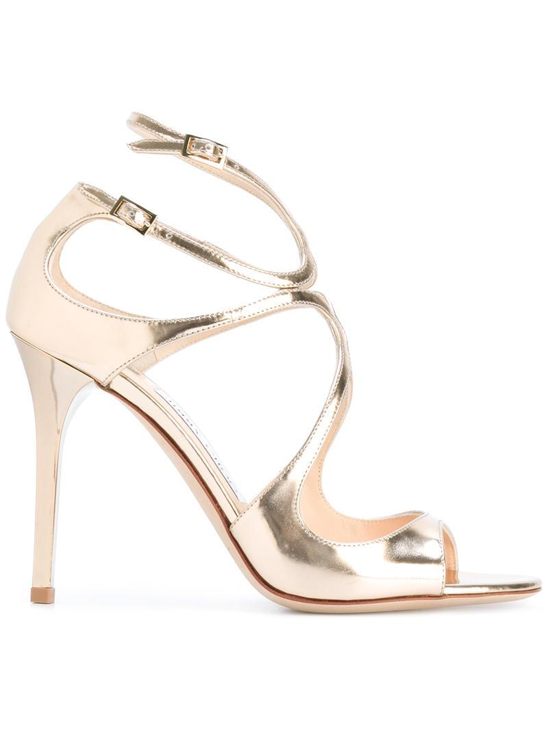 Jimmy Choo Lang Crossover Sandals wholesale online cheap sale 100% authentic VkMbAq