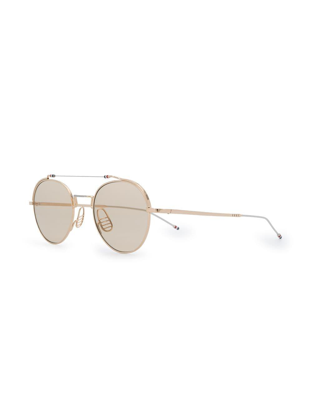 55bfe7c1c30e Lyst - Thom Browne Round Sunglasses in Metallic for Men - Save  0.1599999999999966%