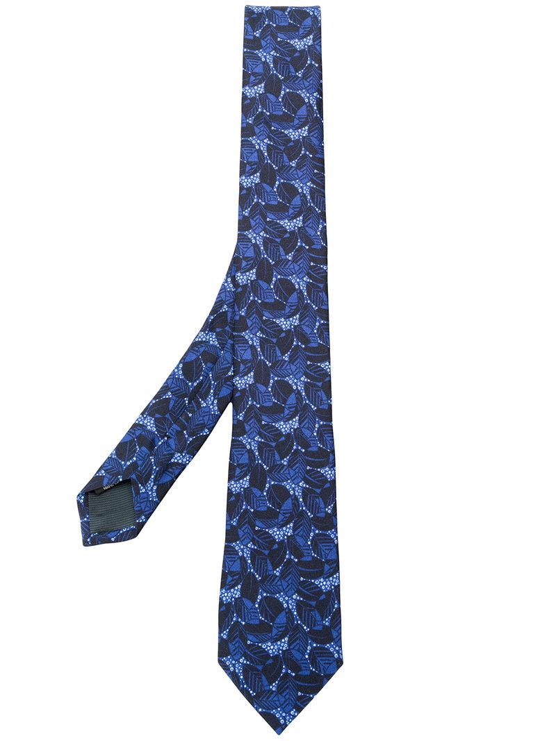 Lyst z zegna floral embroidered tie in blue for men