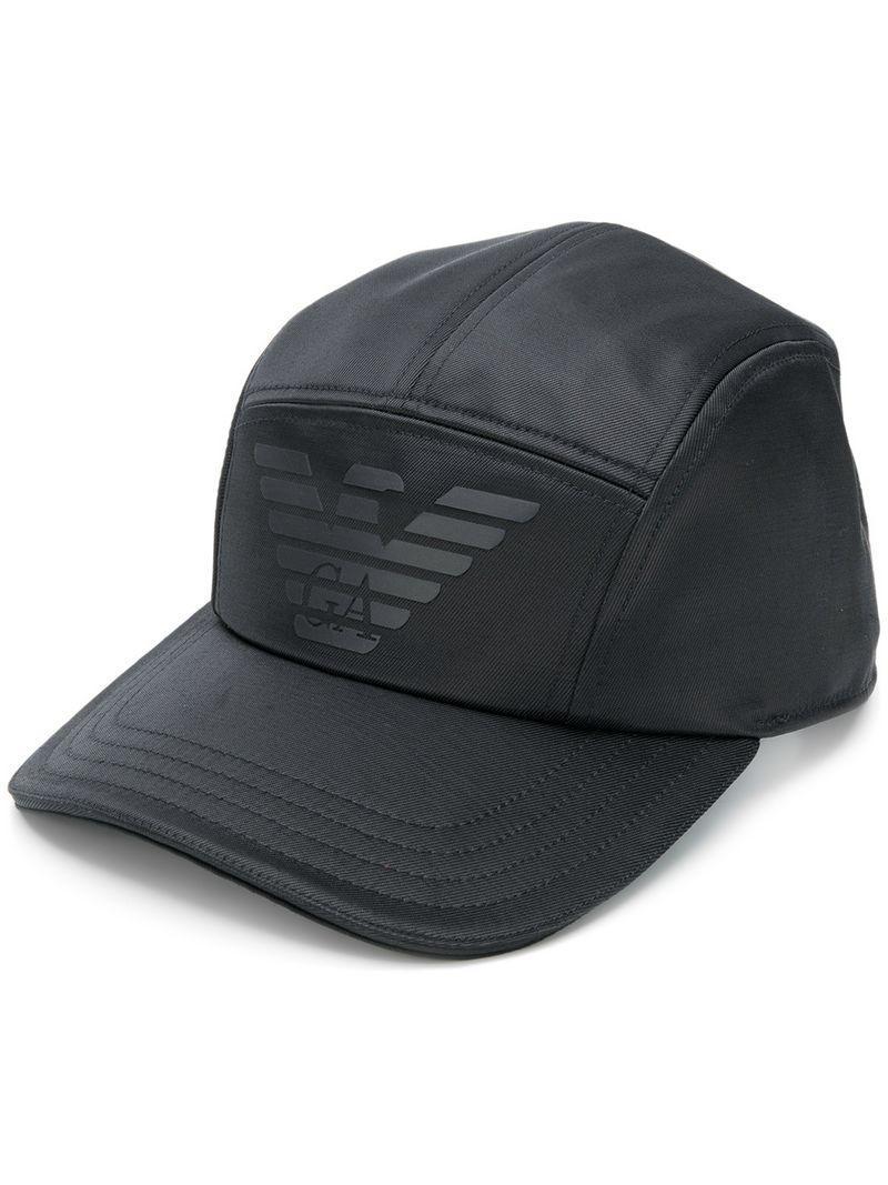 0c86a9d2813 Lyst - Casquette à logo Emporio Armani pour homme en coloris Noir