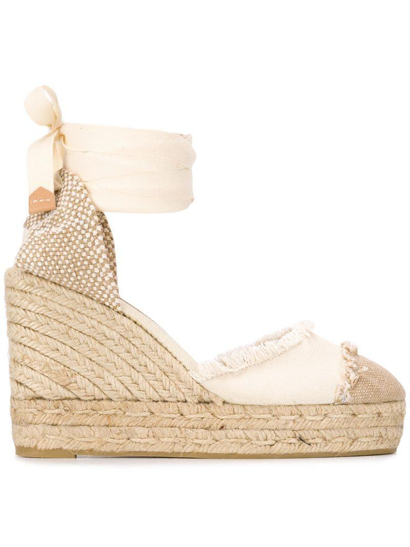 61192a8eb8a Castaner Wedge Espadrilles in Natural - Lyst