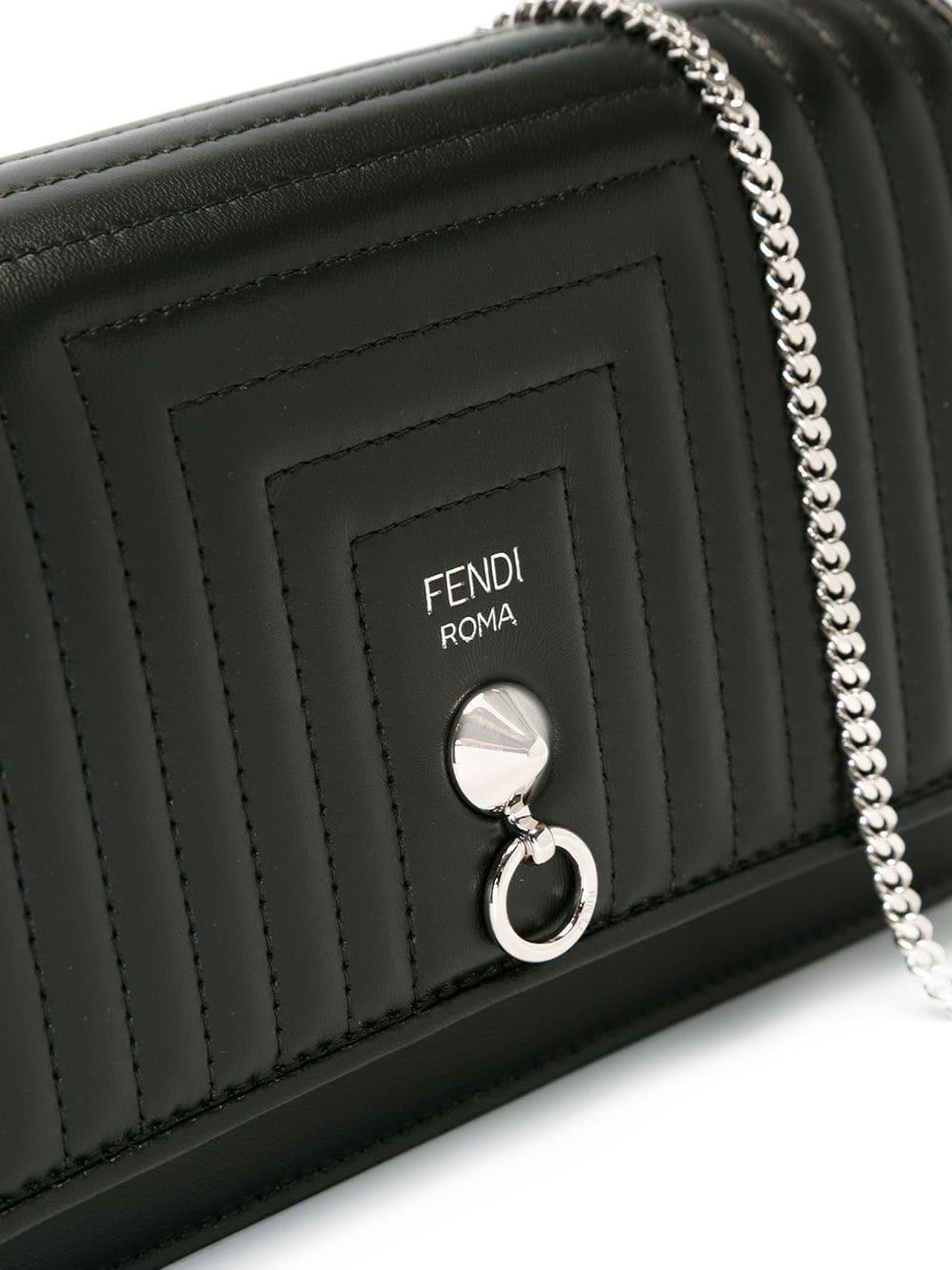 37ea4739c545 Lyst - Fendi Quilted Cross Body Bag in Black