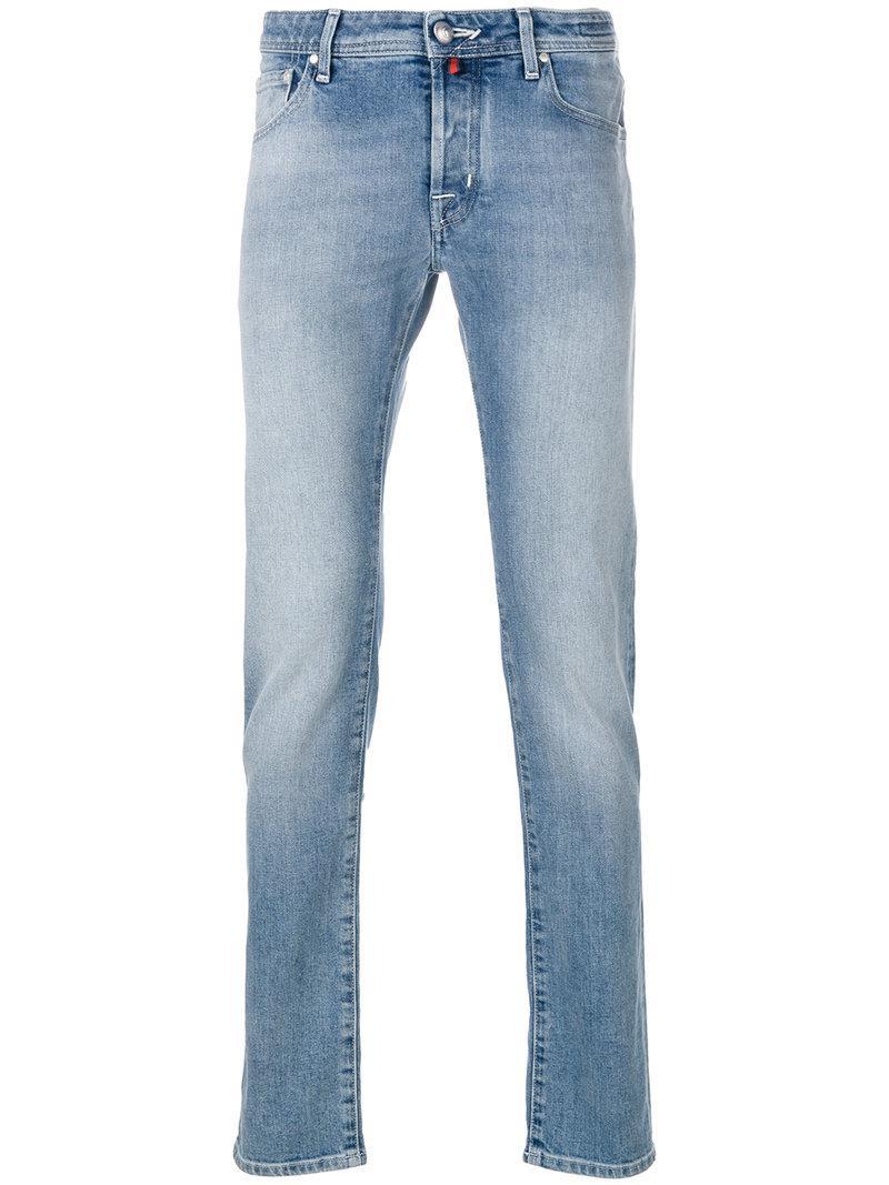 slim fit stonewashed jeans - Blue Jacob Cohen vAr7tqf