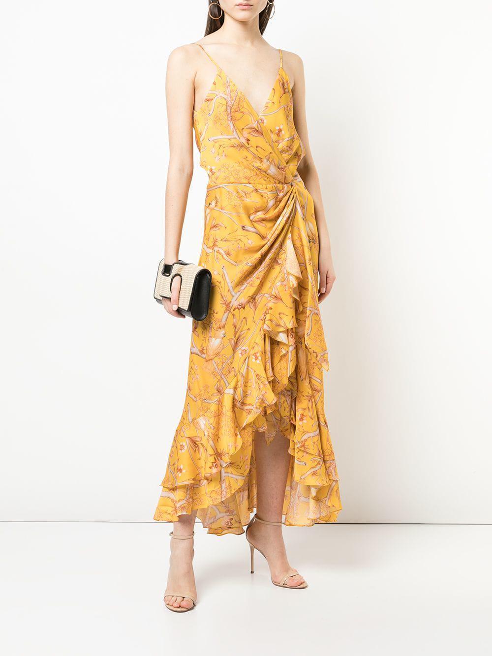 0fe8e30de92 Lyst - Johanna Ortiz Floral Print Ruffle Dress in Yellow