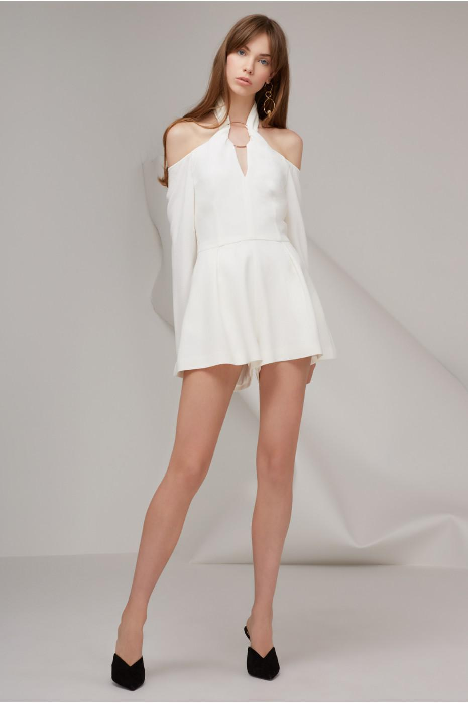 eacc9014a2 Lyst - Keepsake Darkest Light Long Sleeve Playsuit in White