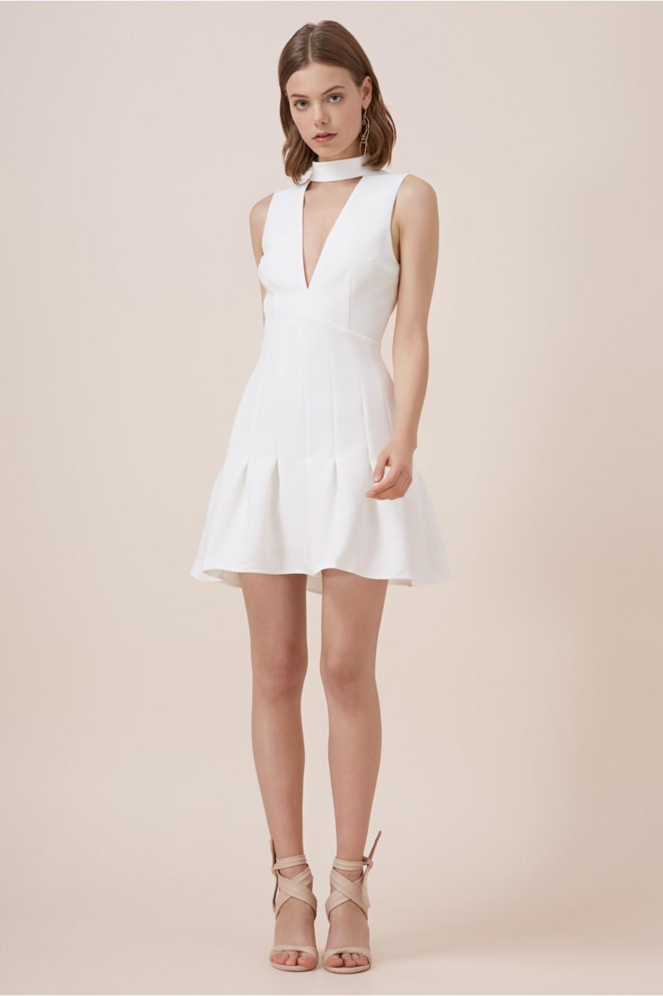 Keepsake Stand Alone Short Sleeve Dress In White Lyst