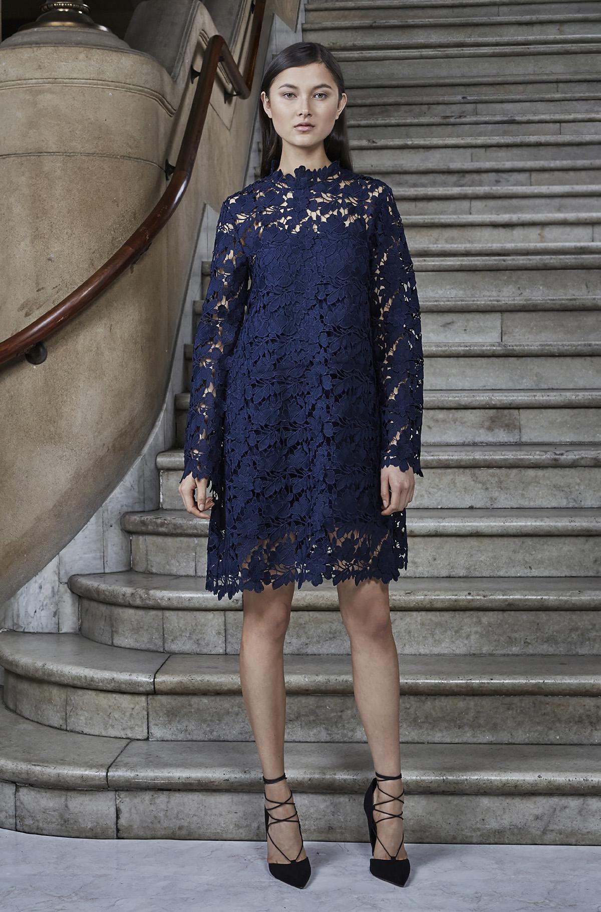 9e6501af9d4 Keepsake Acoustic Long Sleeve Lace Tunic Dress in Blue - Lyst