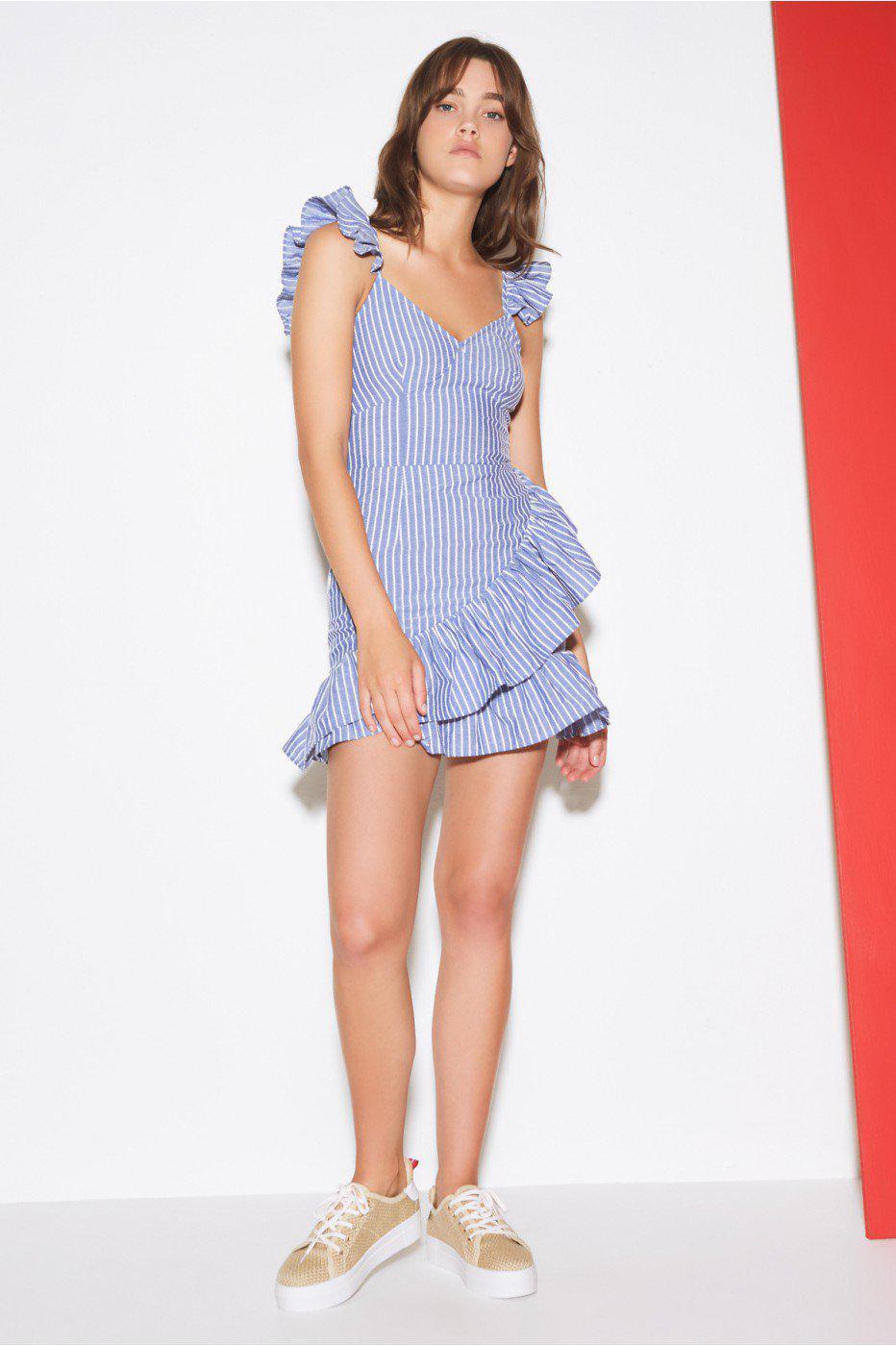 22e8fa2d0bd The Fifth Label Parcel Stripe Dress in Blue - Lyst