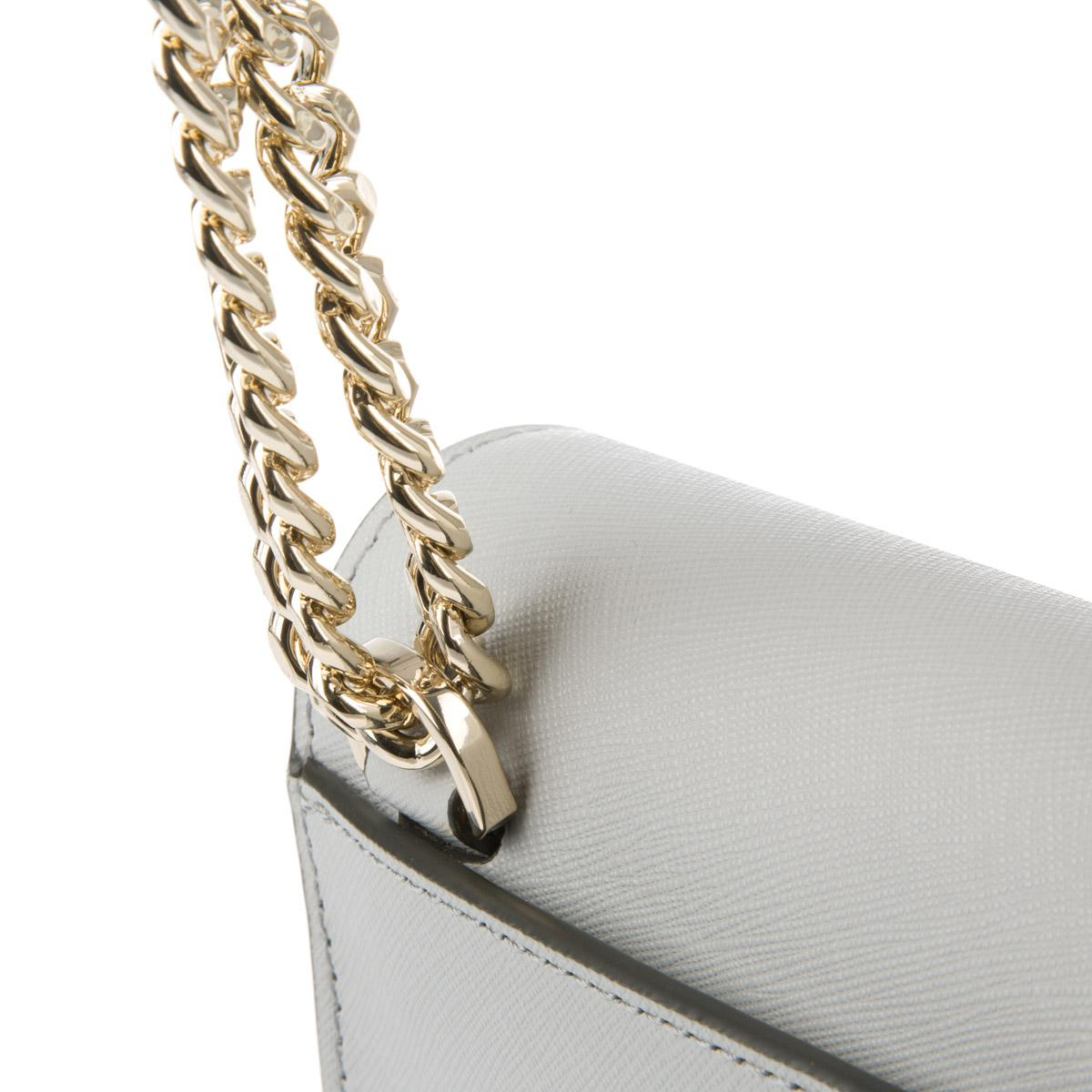 6f4669873a29 DKNY Bryant Park Chain Item Mini Flap Crossbody Natural Marble in ...