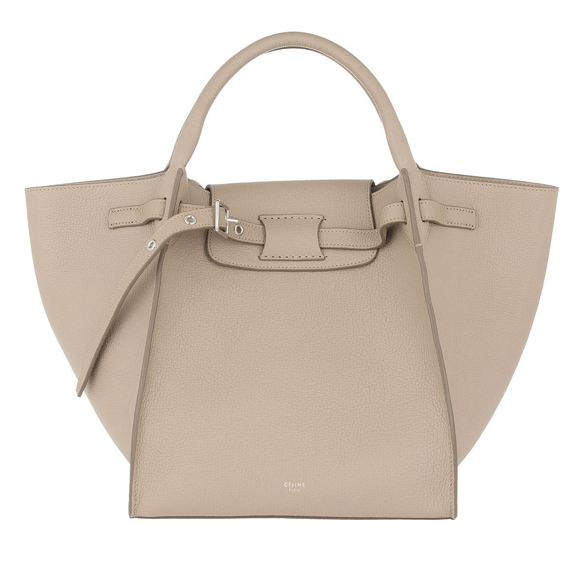 bc780f7de9 Céline Small Big Bag Grained Calfskin Light Taupe in Natural - Lyst