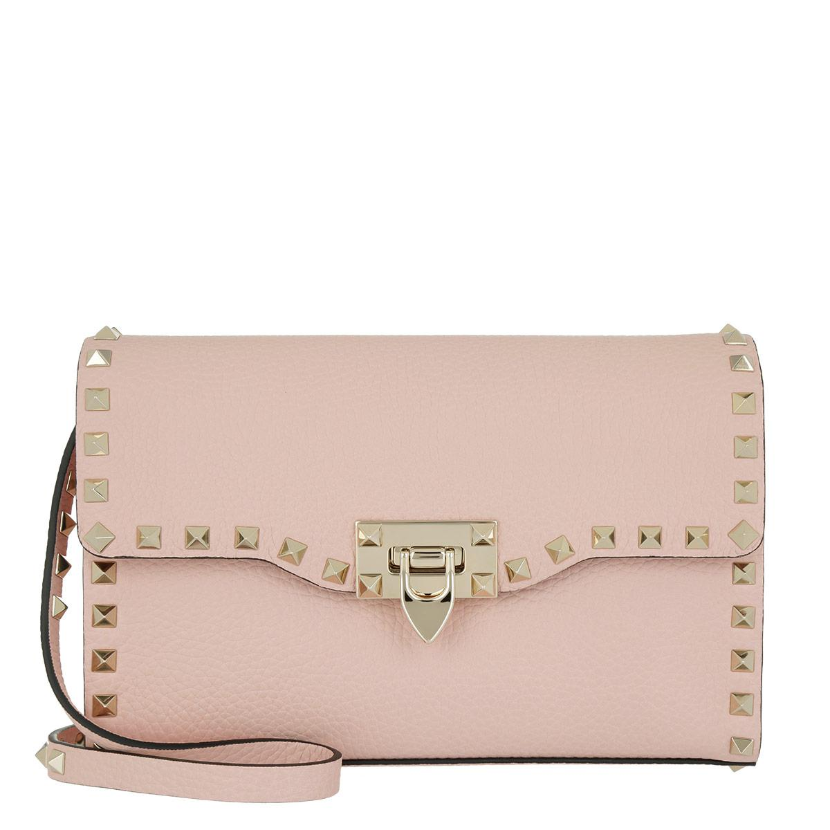 Rockstud Mini Saddle Bag in Water Rose Smooth Calf Valentino OCoOWPL6