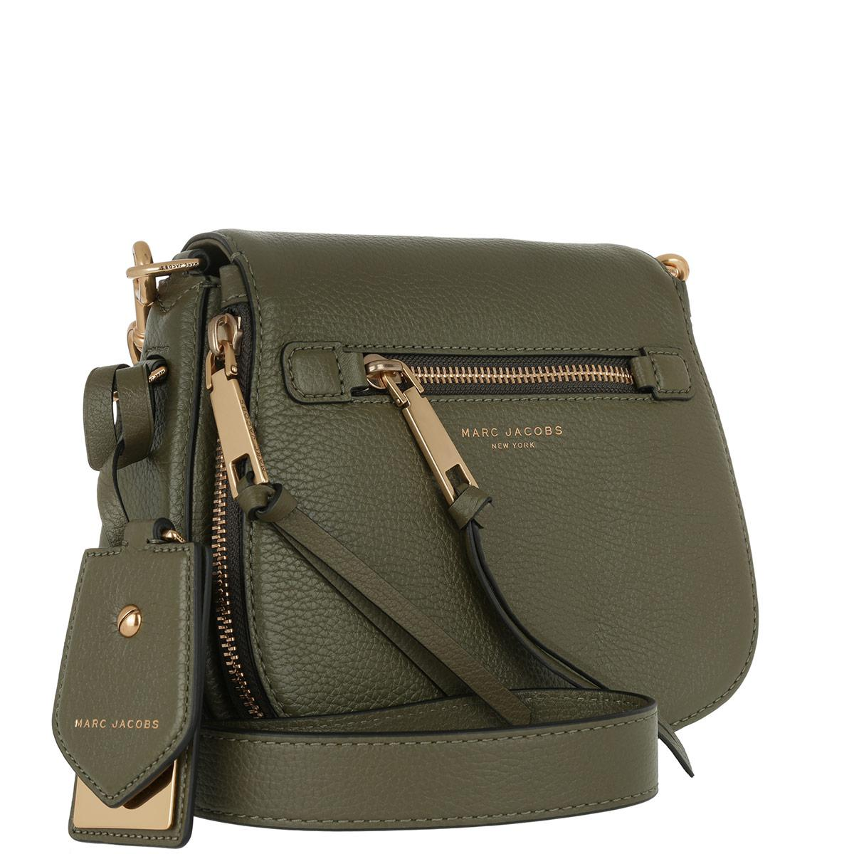 2cb17b6e62 Marc Jacobs Recruit Saddle Bag Leather Army Green in Green - Lyst