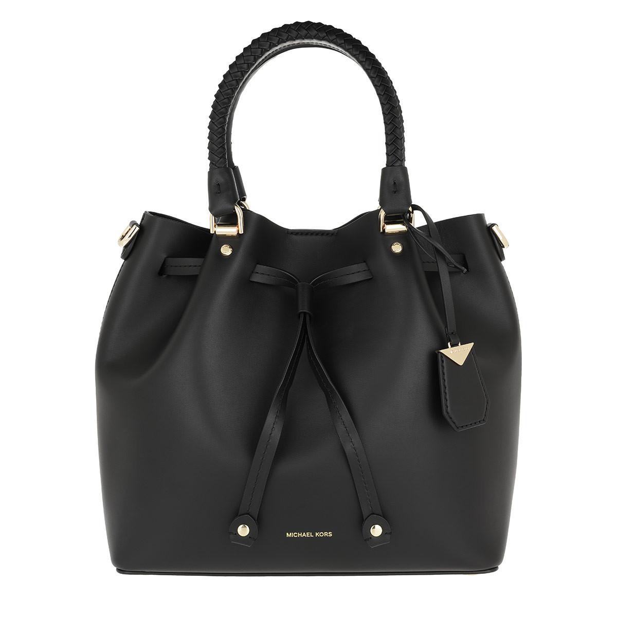 956a2610 Michael Kors Blakely Md Bucket Bag Black in Black - Lyst