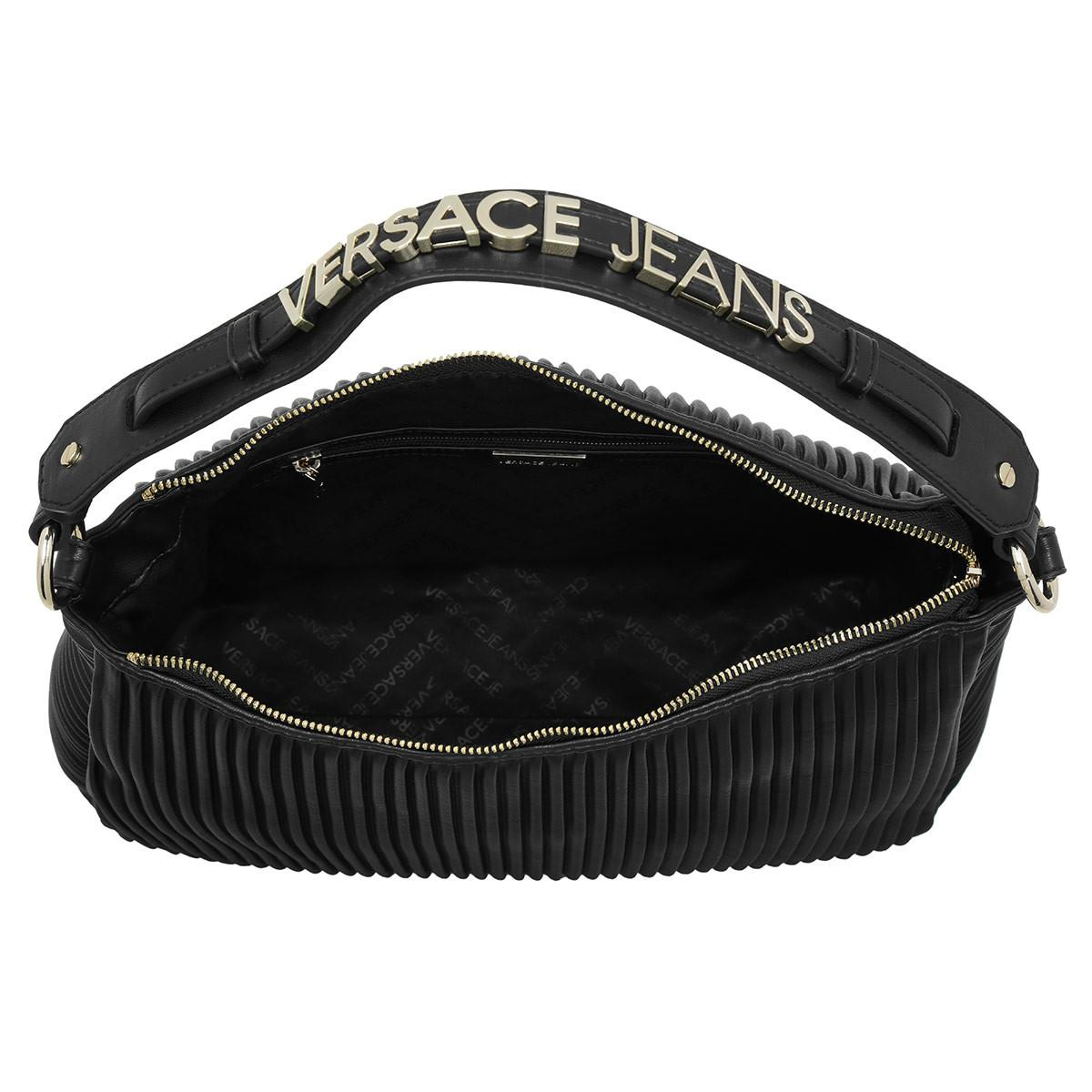 Versace Jeans Hobo Logo Lettering Gold Nero in Metallic - Lyst 5ac259e3897e3