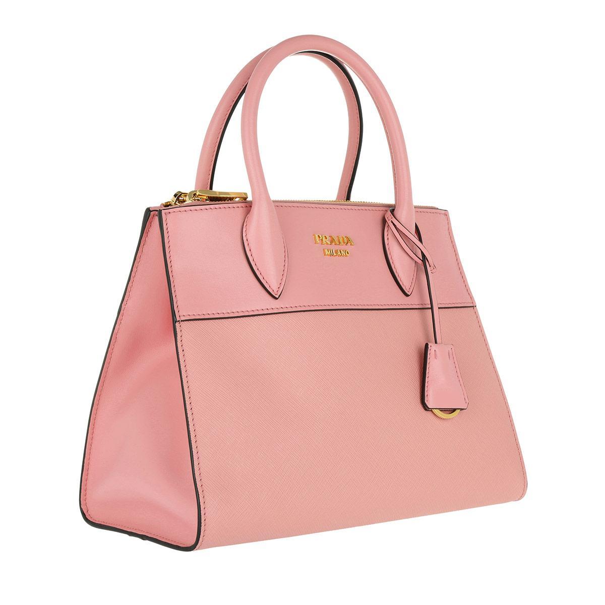 bd078ca41e27 ... bags handbags e7d98 be985 promo code for lyst prada saffiano city tote  petalo in pink d0cae dcbd6 ...