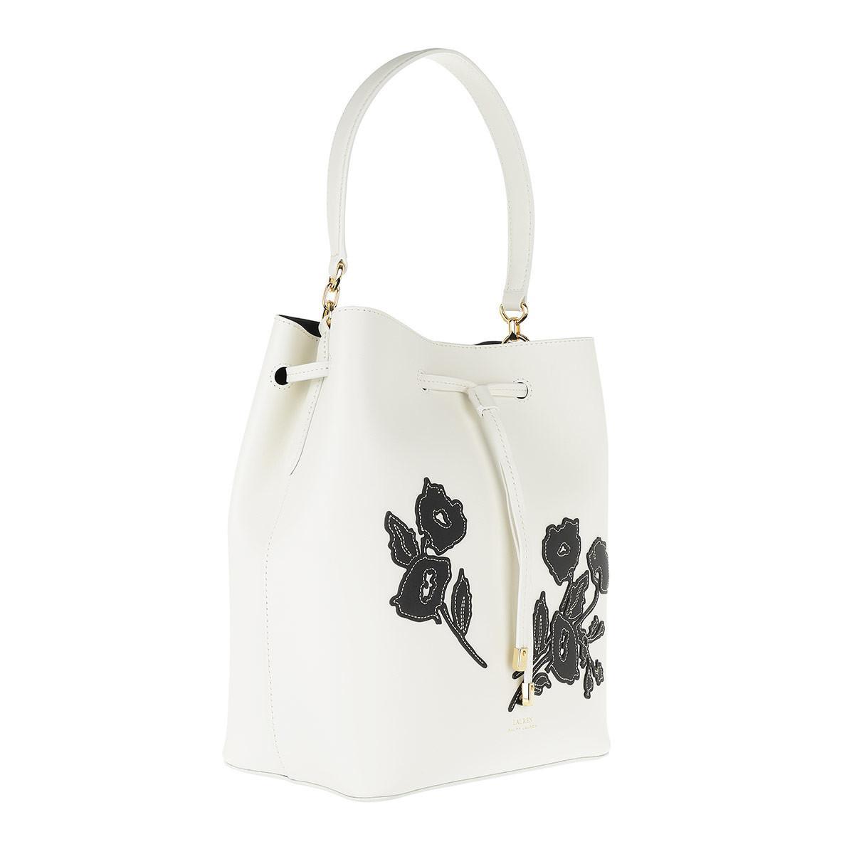 d90b89d123 Lauren by Ralph Lauren Dryden Drawstring Bag Vanilla black Floral in ...