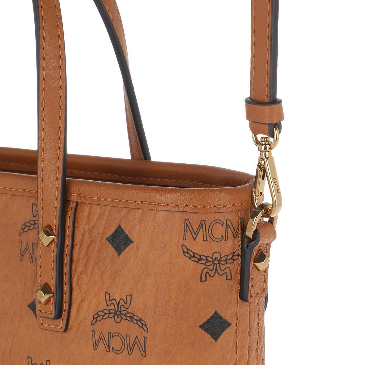 1fc0f09bdc MCM Victory Patch Top Zip Shopper In Visetos in Brown - Lyst