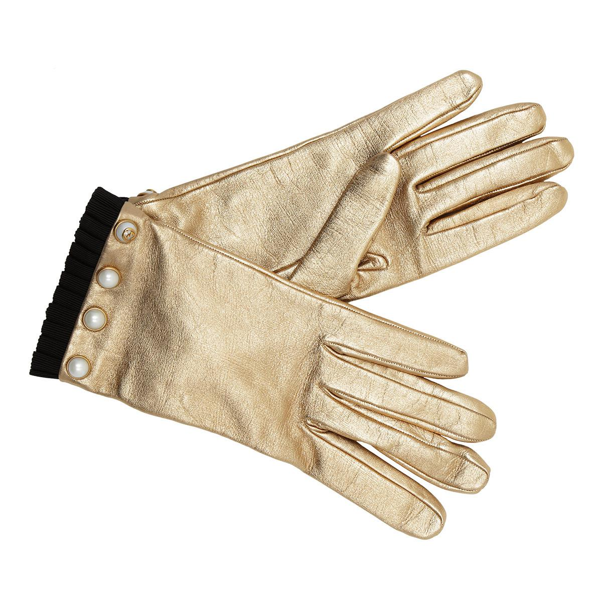 Gucci. Women s Gloves Pearl Nappa Leather Bronze 4ad2cfb3794
