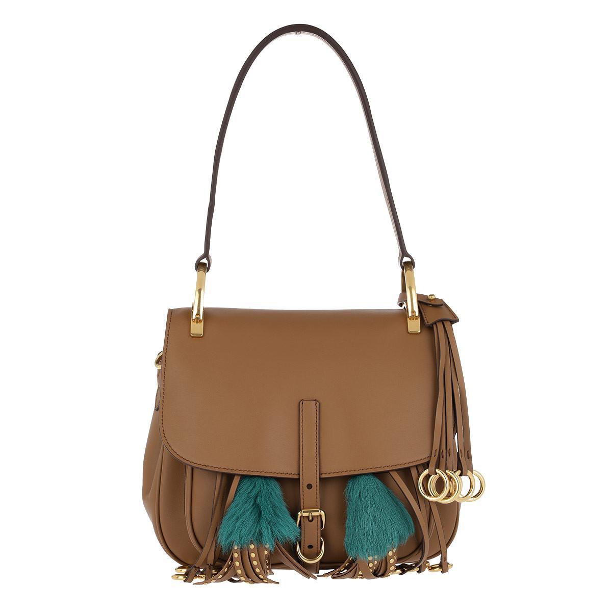 4aabcc117784 Prada Corsaire Satchel Bag Camel - Lyst