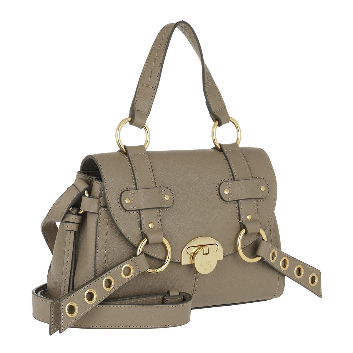 9c1ab965ce See By Chloé Allen Shoulder Bag Leather Motty Grey in Black - Lyst