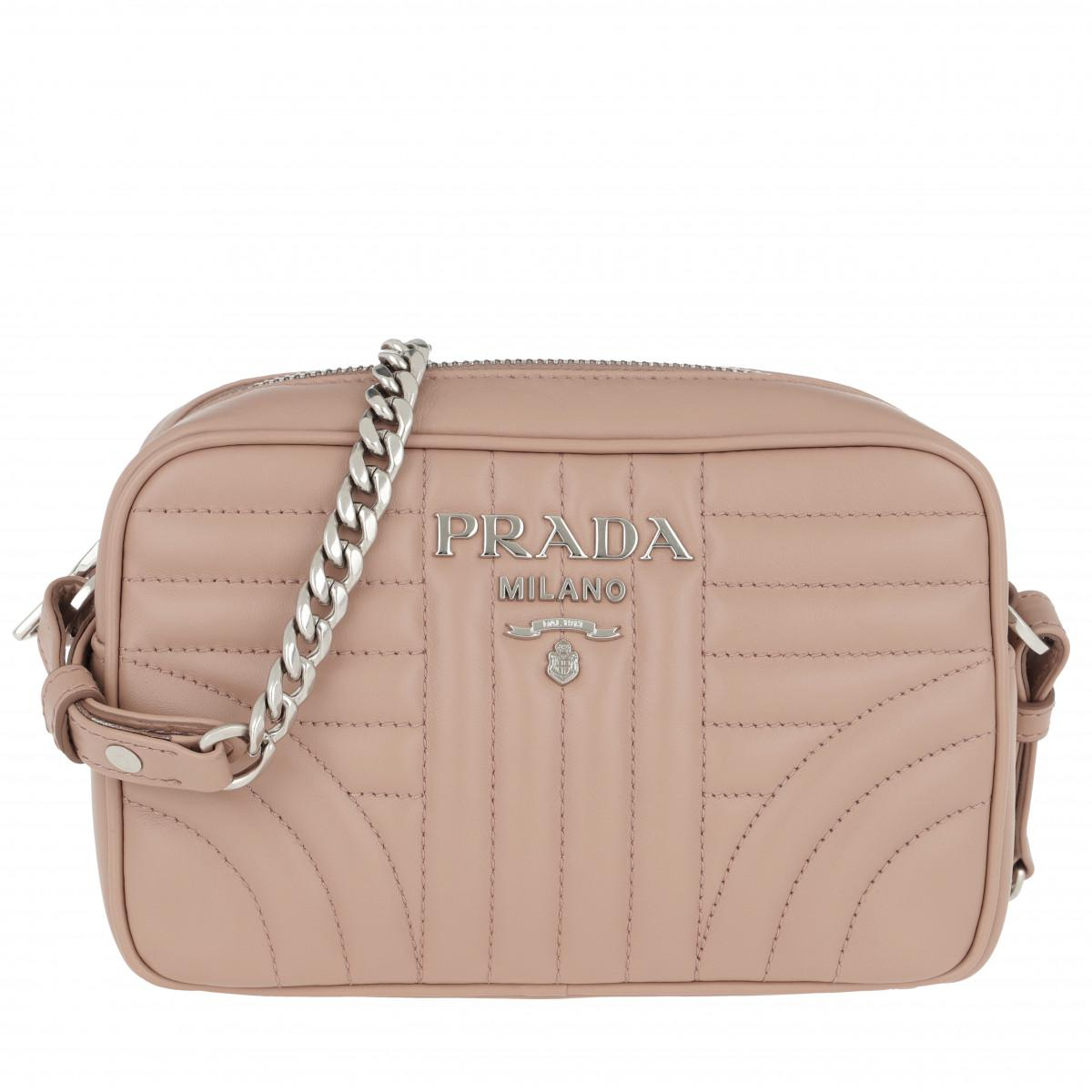 e0a24365f7e601 Prada Diagramme Crossbody Bag 2 Leather Cipria in Natural - Lyst