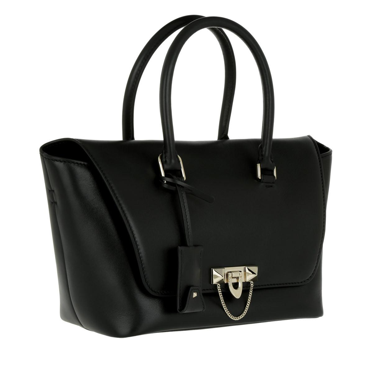 Valentino Demilune Small Double Handle Bag Black in Black - Lyst 8ad4e3a03a