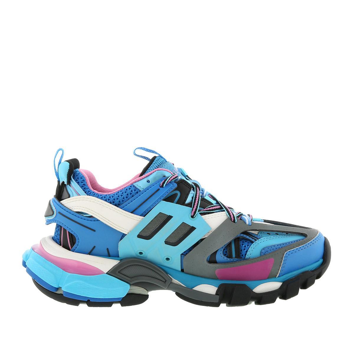 f74ead41331c2 Balenciaga - Track Trainers Blue - Lyst. View fullscreen