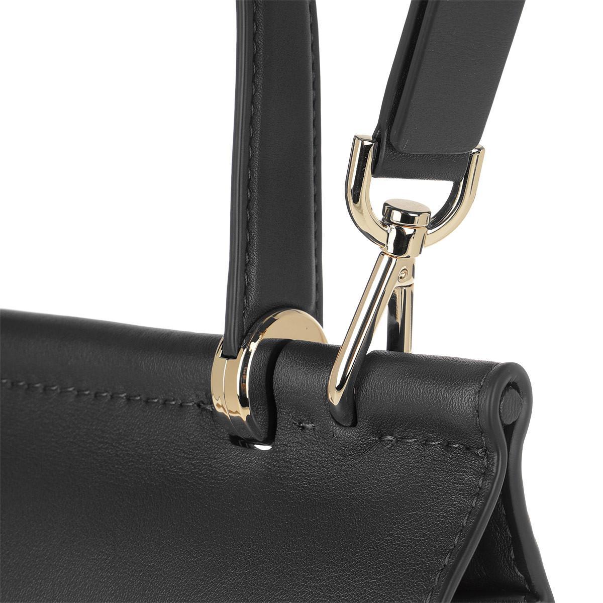 Michael Kors - Jasmine Md Th Satchel Bag Black gold - Lyst. View fullscreen b6da8e5df43c7