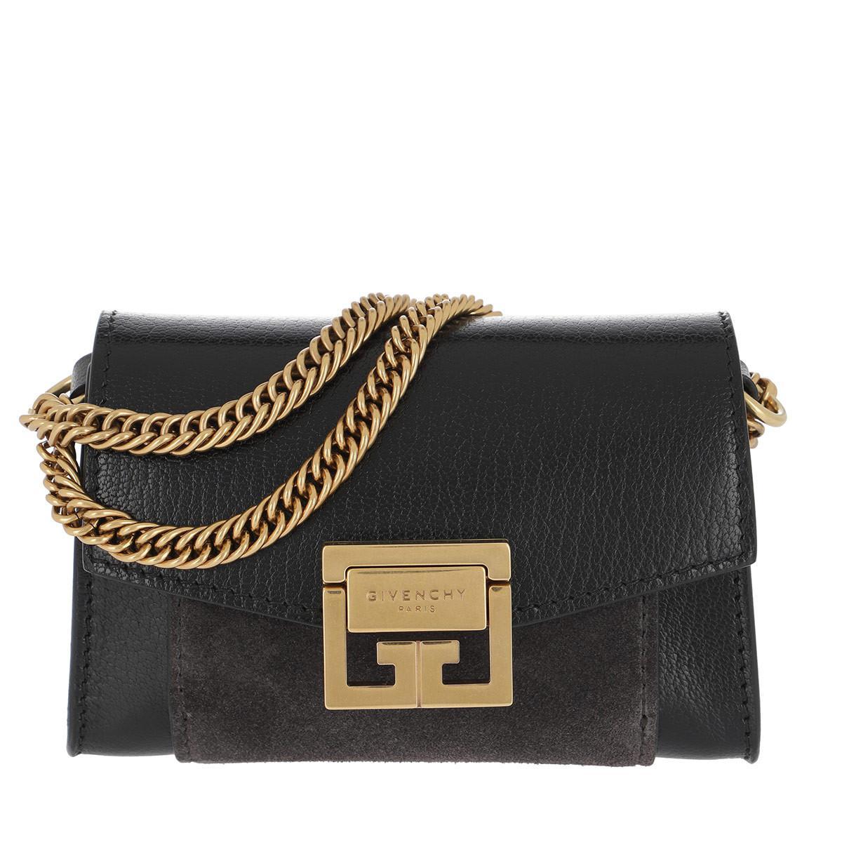 43c5bd417376 Givenchy Gv3 Nano Crossbody Bag Black Grey in Black - Lyst
