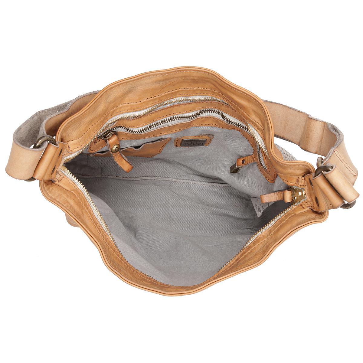 172bd6b62aa8 Campomaggi Monospalla Vacchio Bucket Bag Pallino Metal Grigio Perla ...