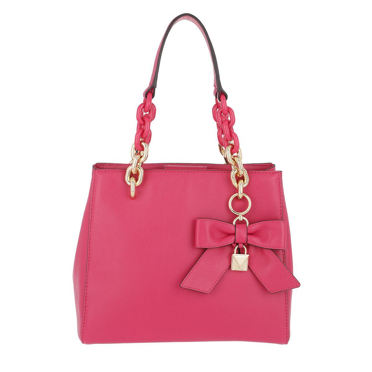 07b5c790e348 ... purchase michael kors cynthia sm ns conv satchel bag ultra pink in pink  lyst 5707a 3318b