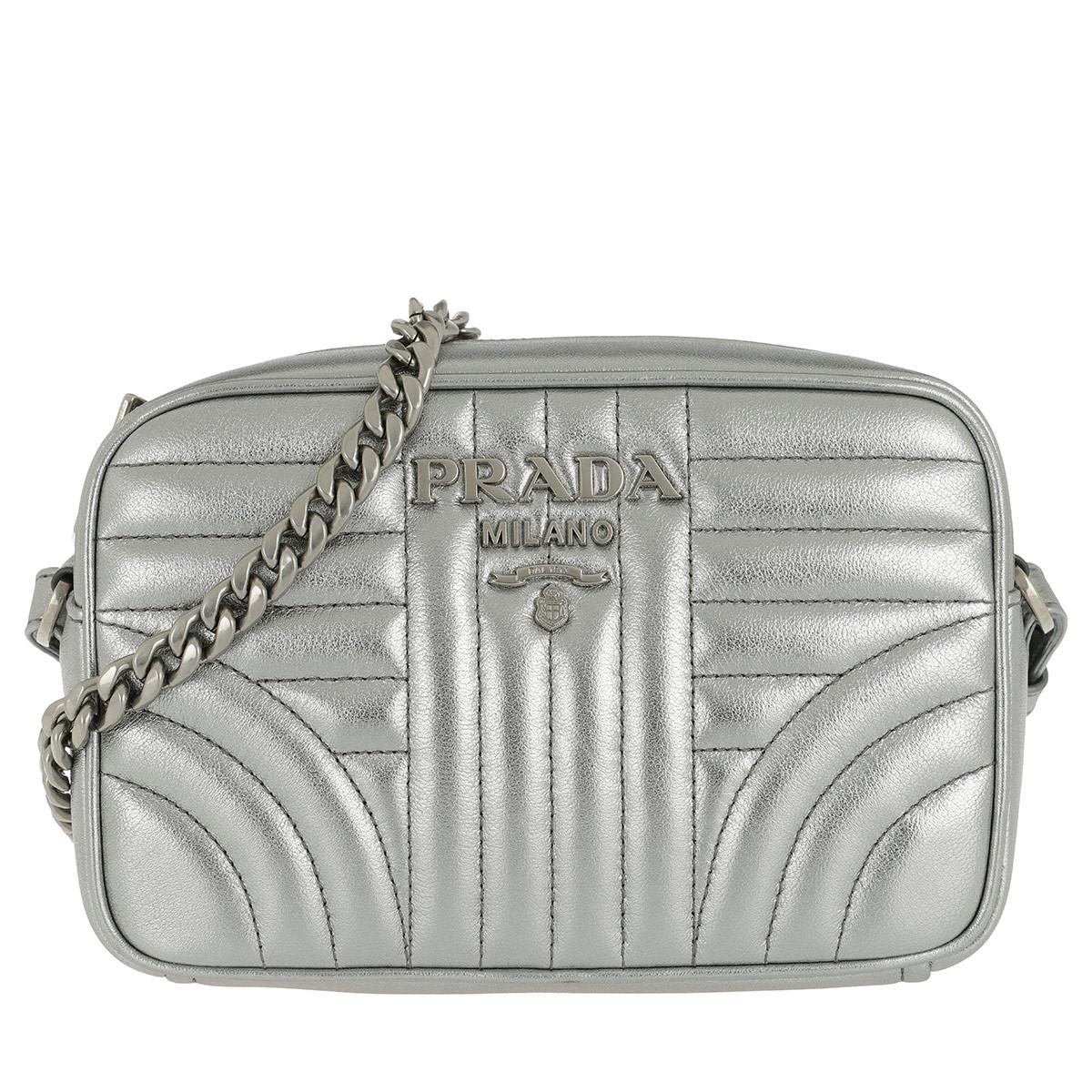 aae31f8ca0db Prada. Women s Diagramme Crossbody Bag Leather Cromo