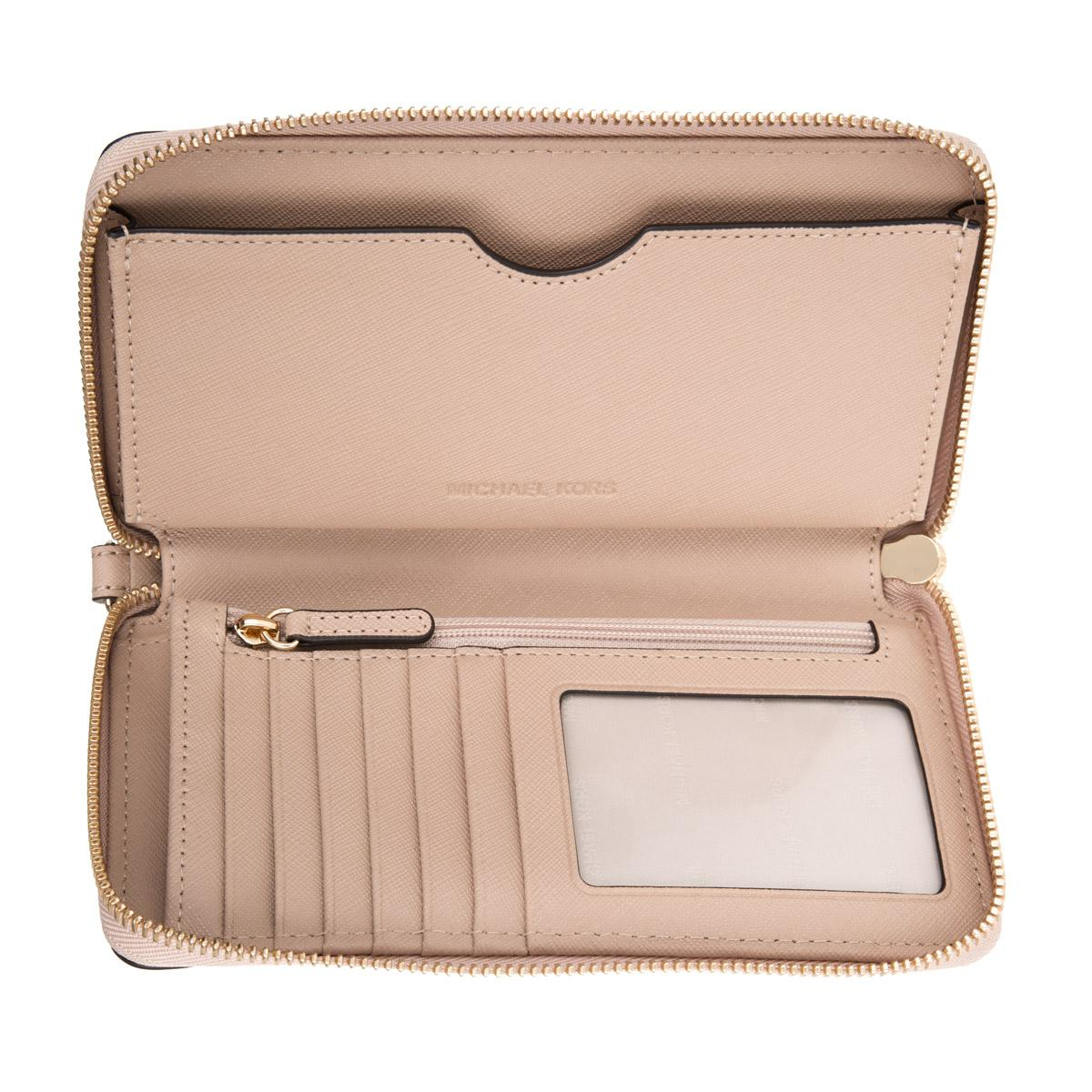 8e1e5a105f83 Michael Kors Mercer Lg Flat Multifunction Phone Case Leather Oyster ...