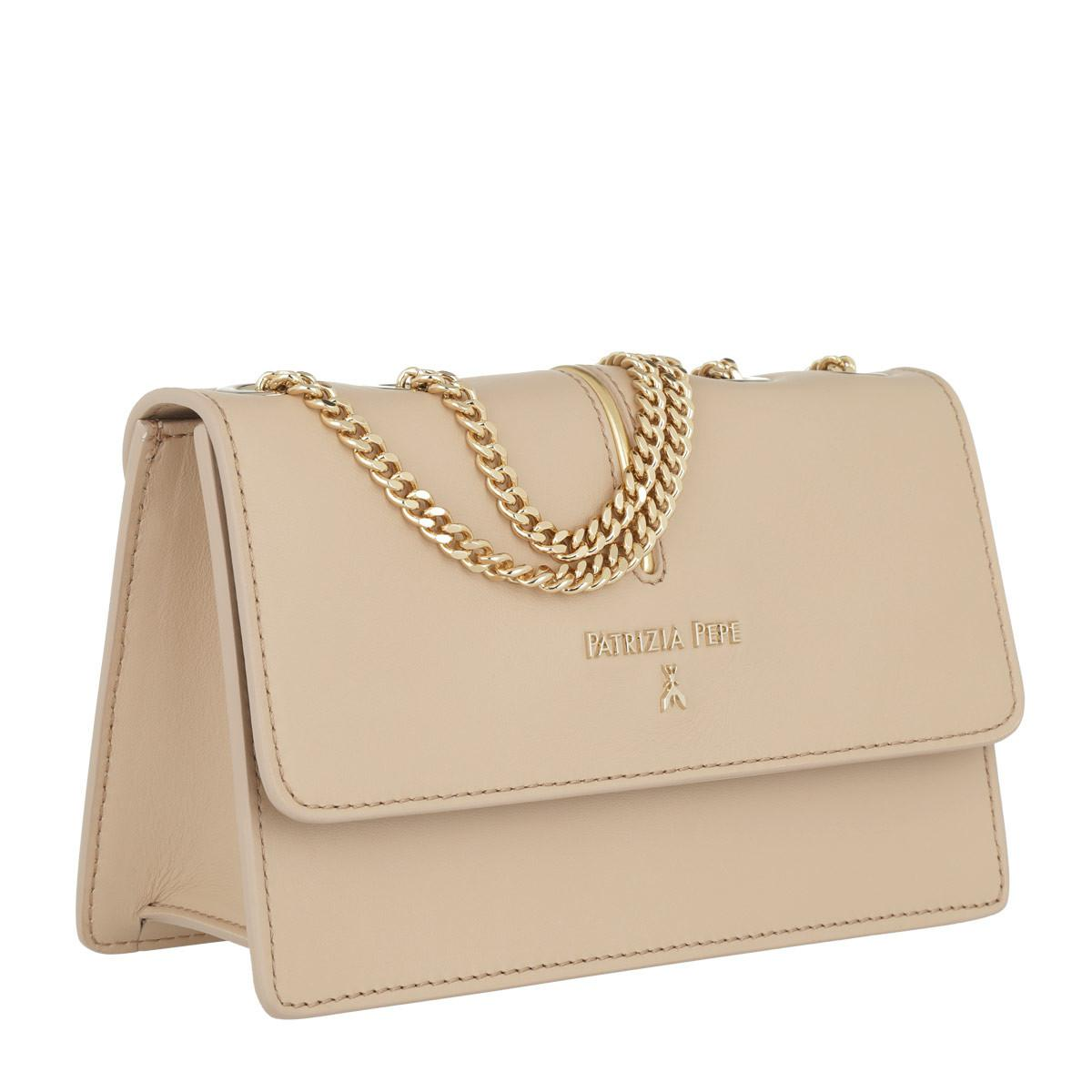 b87b83369e36 Patrizia Pepe - Natural Logo Chain Crossbody Bag Camel Beige - Lyst. View  fullscreen