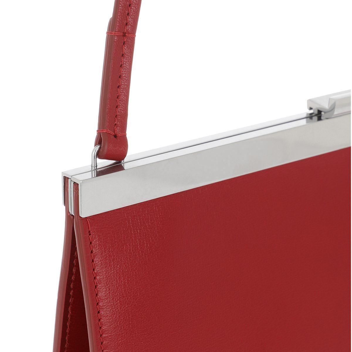 2bc6c9e02dcf Céline Mini Clasp Bag Pop Red in Red - Lyst