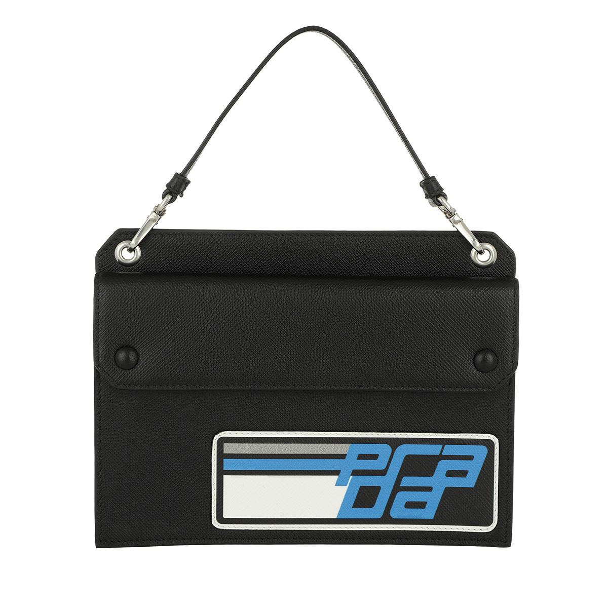 9c9b5658ec24 ... promo code prada. womens logo mini bag leather black blue 151bc ff429