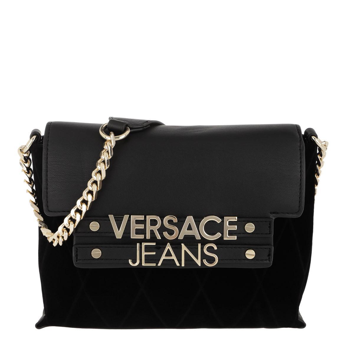 Versace Jeans Logo Chain Crossbody Bag Black in Black - Lyst 0078a53567d68