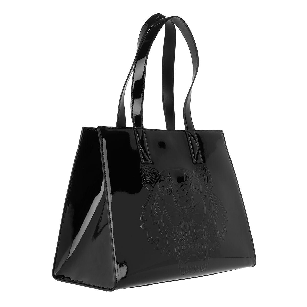 Sac D'emballage Horizontal Kenzo En Pvc Verni Noir 3ZqjSIA1Wb