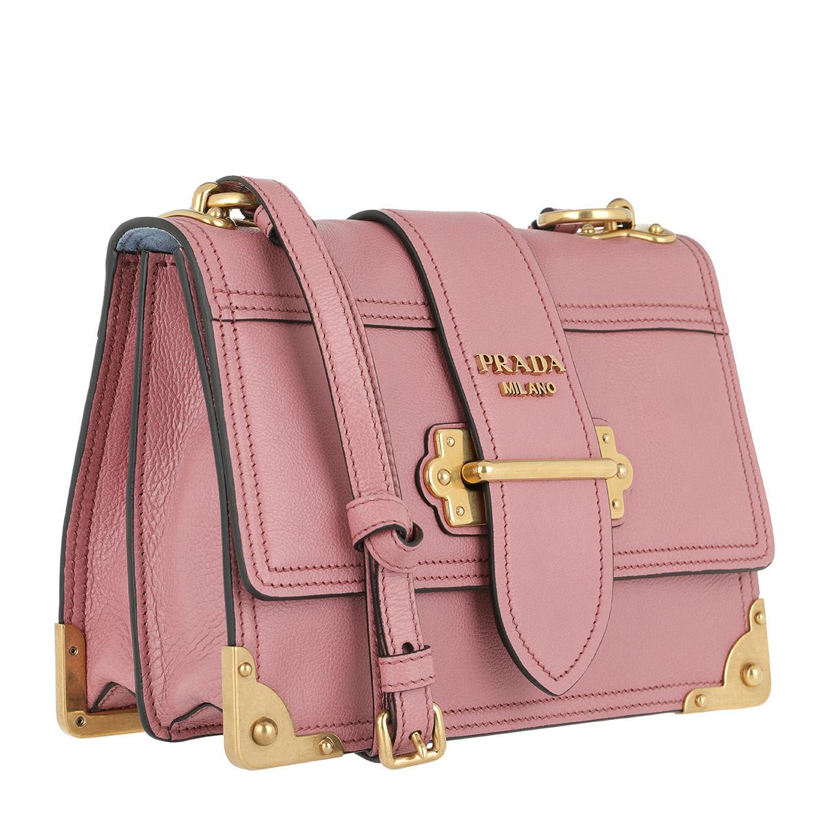 Cross Body Bags - Glace Shoulder Bag Calf Leather Rose - rose - Cross Body Bags for ladies Prada IX3ppz1eL