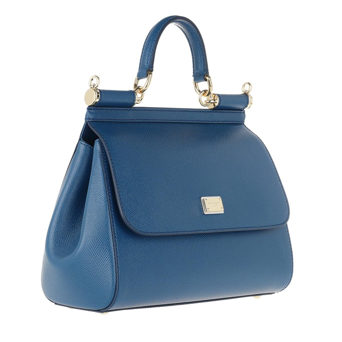 38bd67ccf9 Dolce   Gabbana Sicily Saffiano Tote Medium Royal Blue in Blue - Lyst