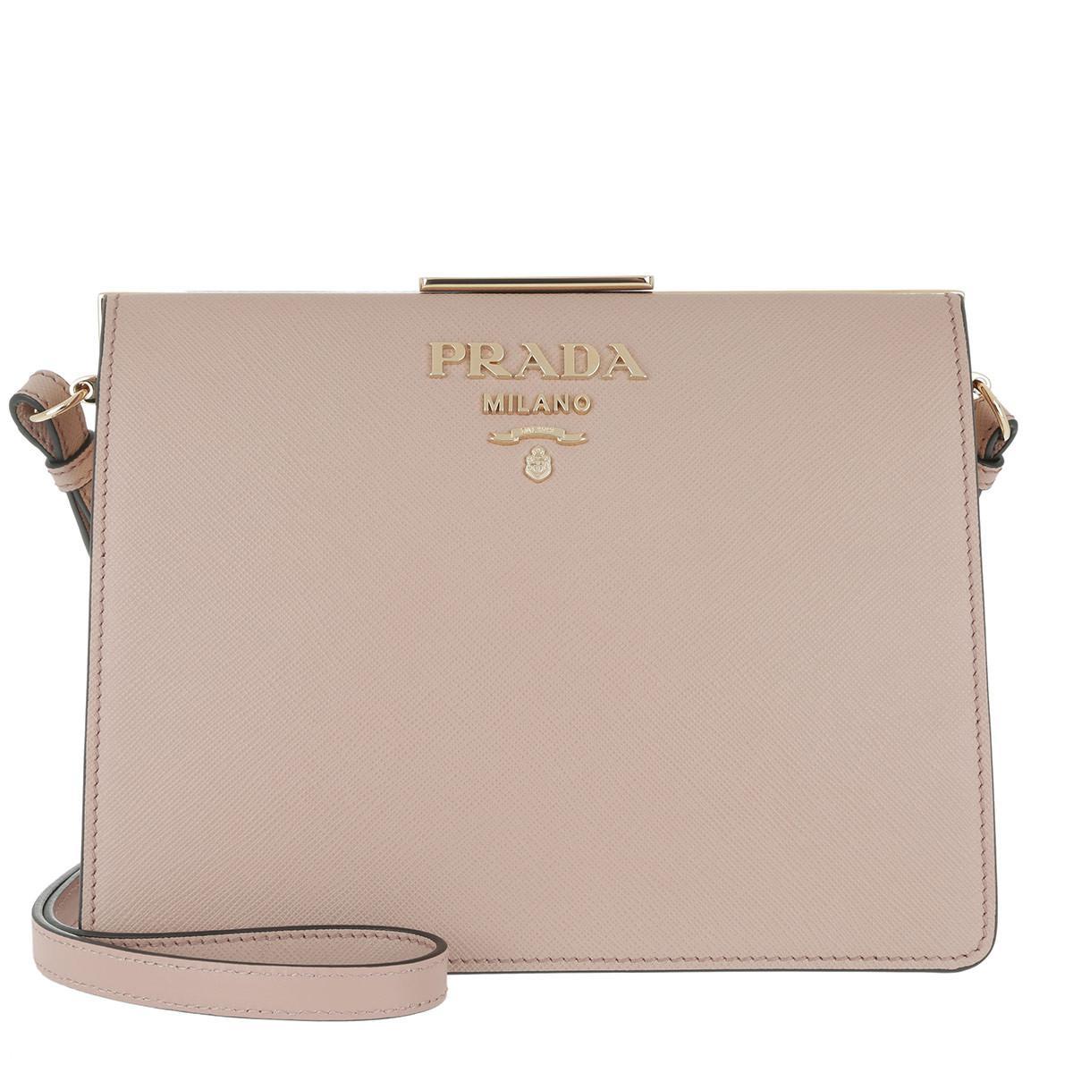 244a7df3917b Prada Light Frame Crossbody Bag Cammeo - Lyst