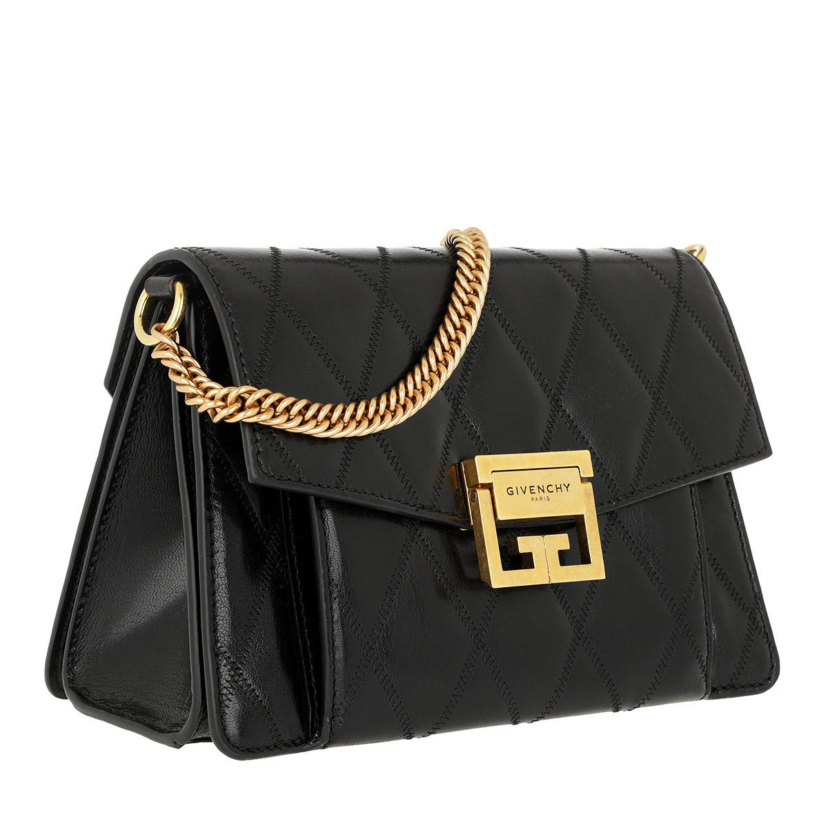 beb9e8d364 Givenchy - Small Gv3 Bag Diamond Quilted Leather Black - Lyst. View  fullscreen