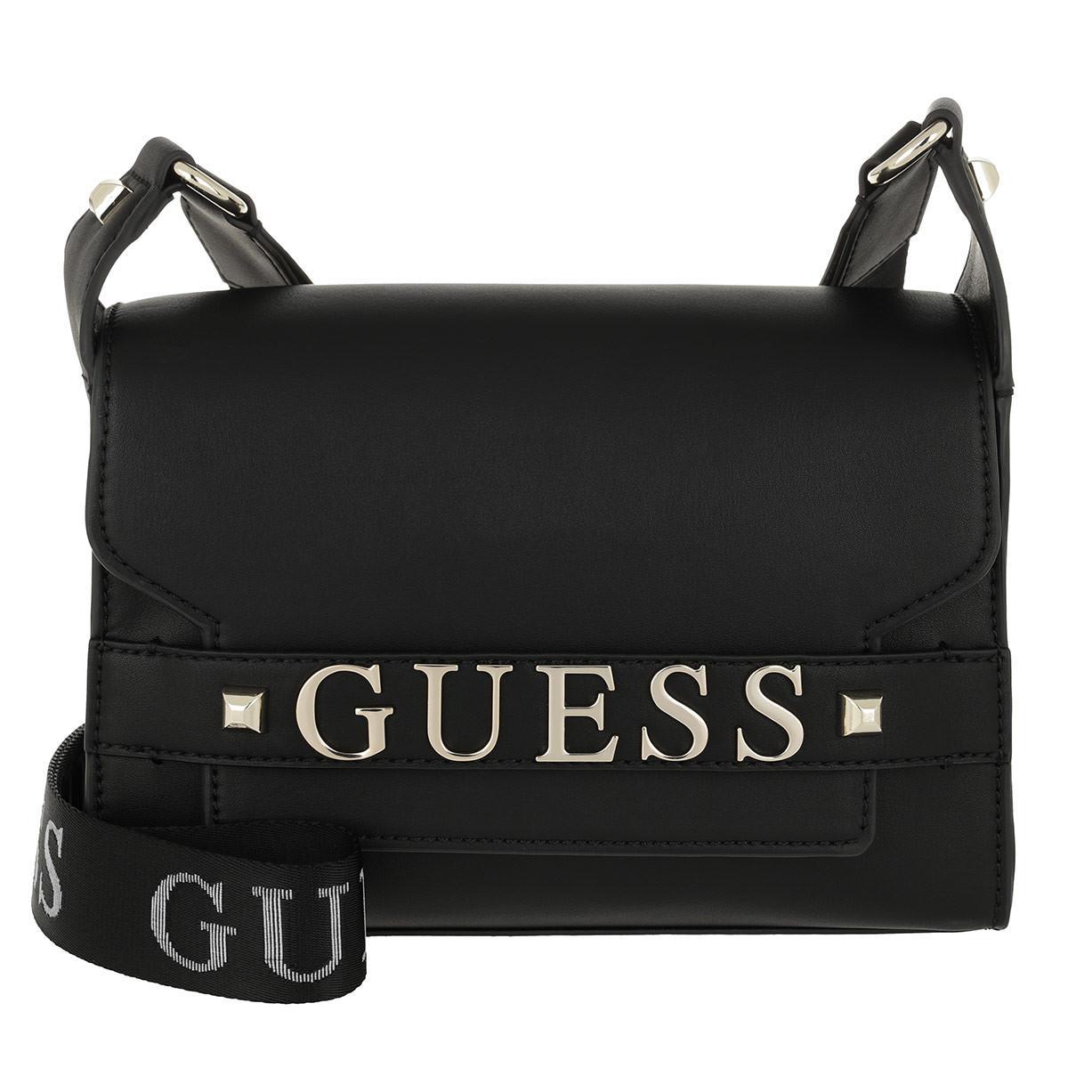 Guess Felix Shoulder Bag Black in Black - Lyst 17c3a6d99897d
