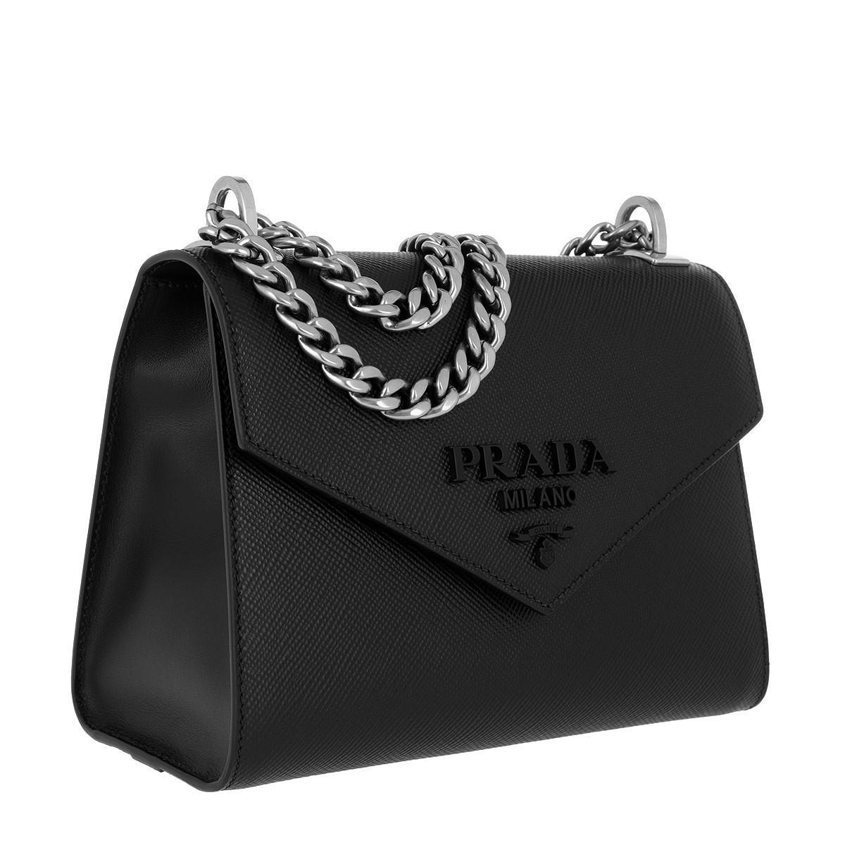 54d0e509aa78 Prada - Black Monochrome Crossbody Bag Medium Nero - Lyst. View fullscreen