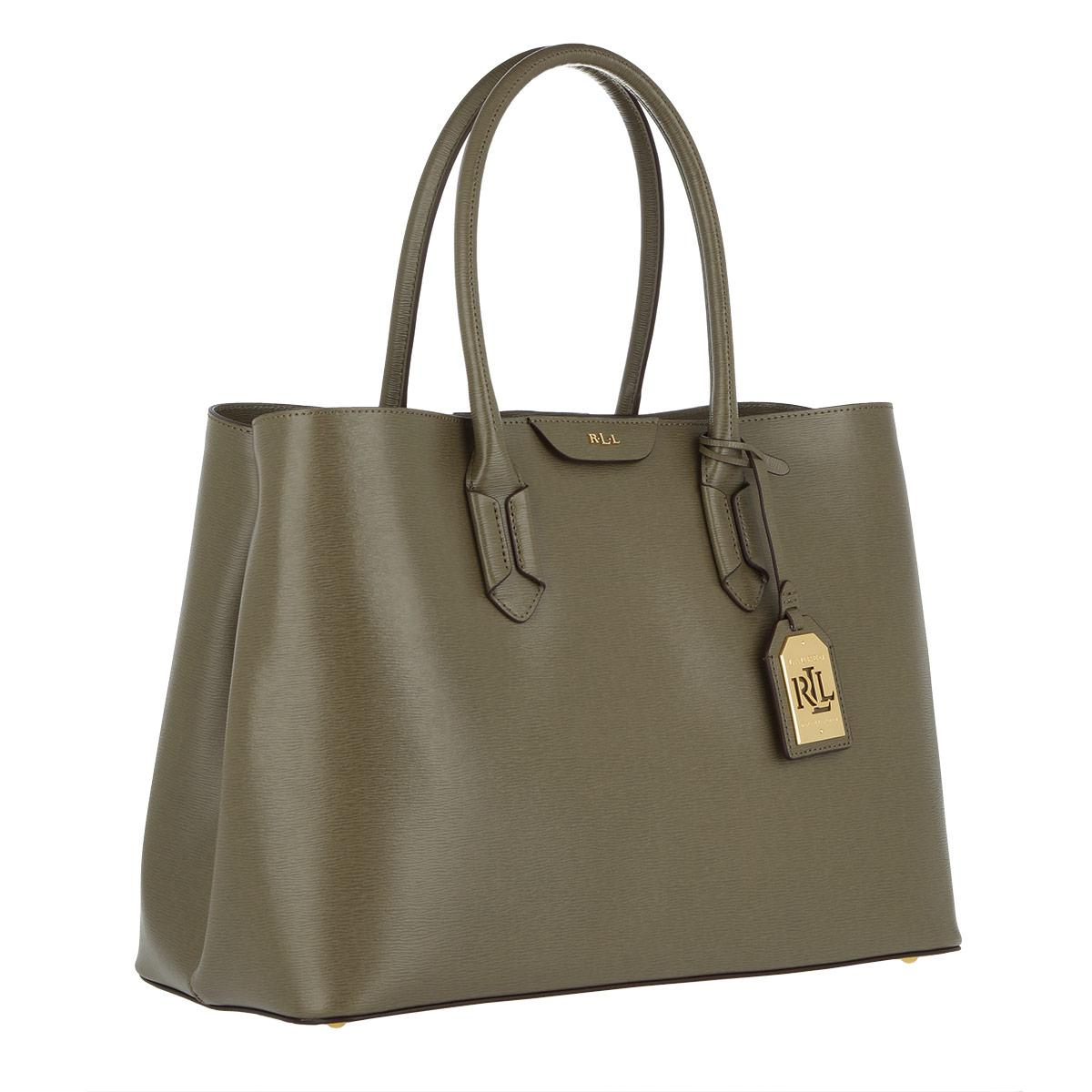 Lauren by Ralph Lauren Tate City Tote Sage in Green - Lyst 9579c1479a0f6