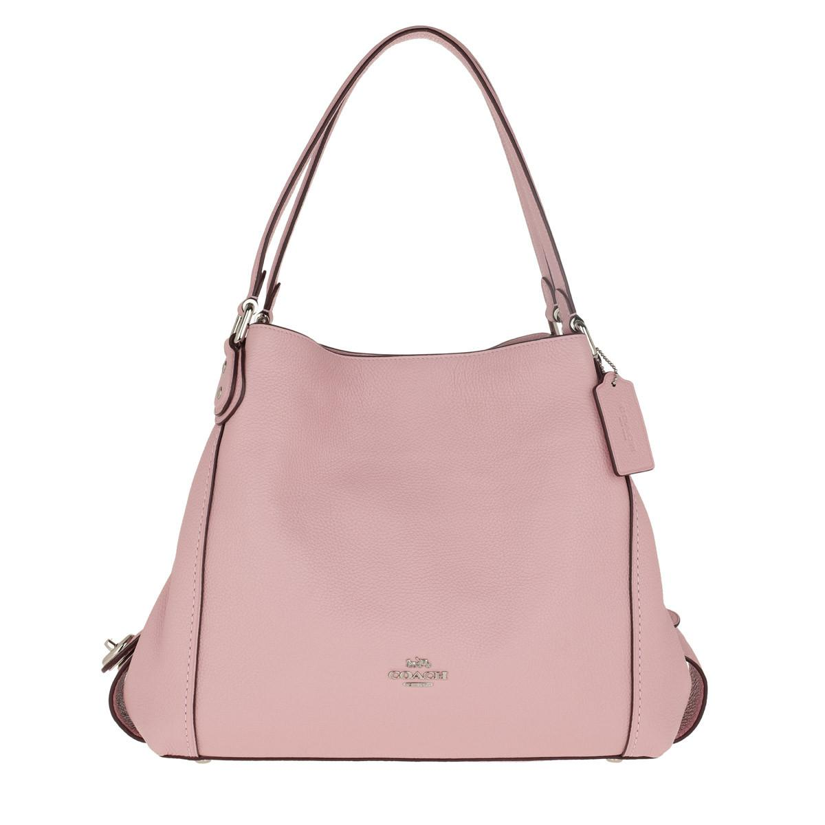 COACH Polished Pebble Leather Edie 31 Shoulder Bag Pink in Pink - Lyst b697a71d99f3d
