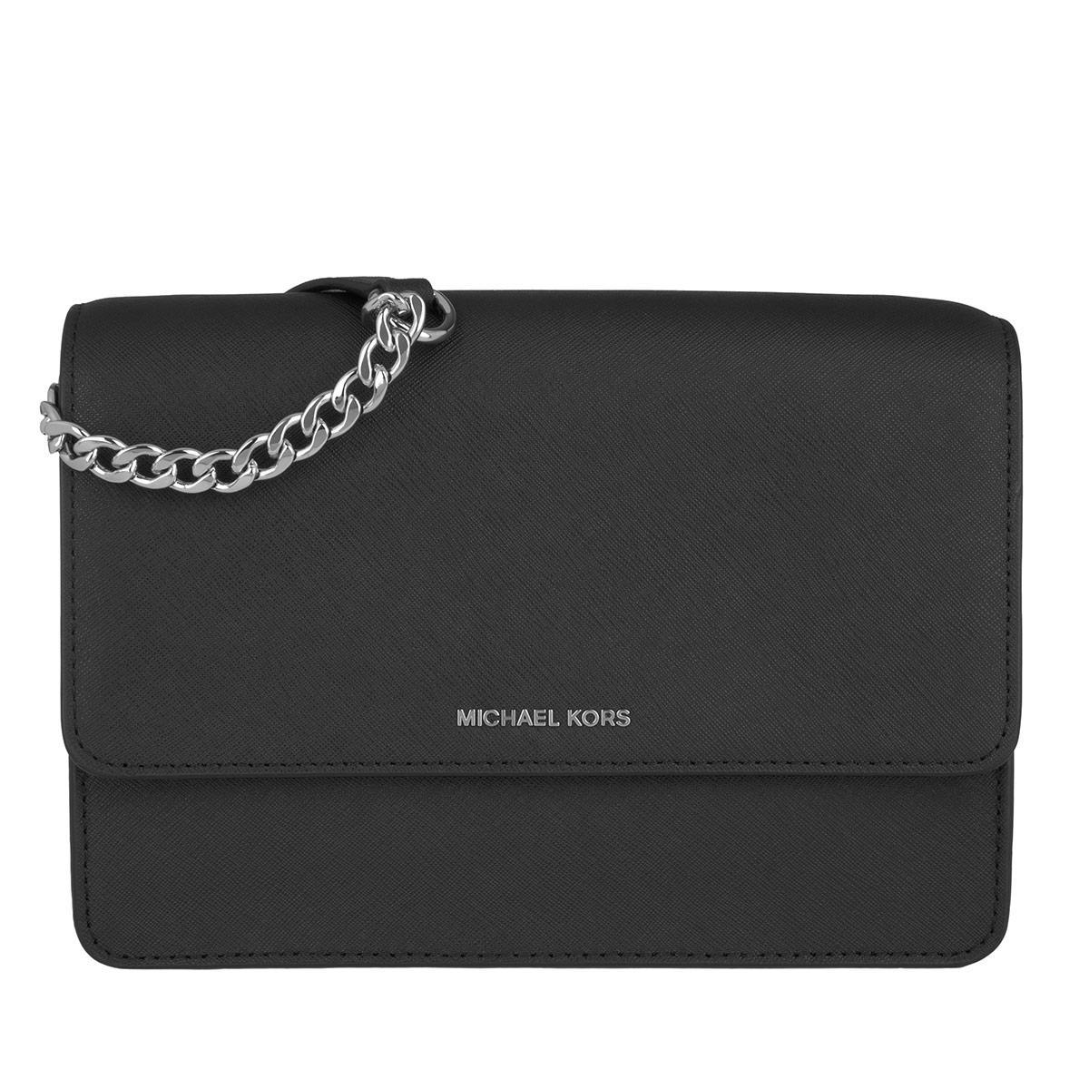 515b9fad479c Michael Kors Daniela Lg Crossbody Bag Leather Black in Black - Lyst