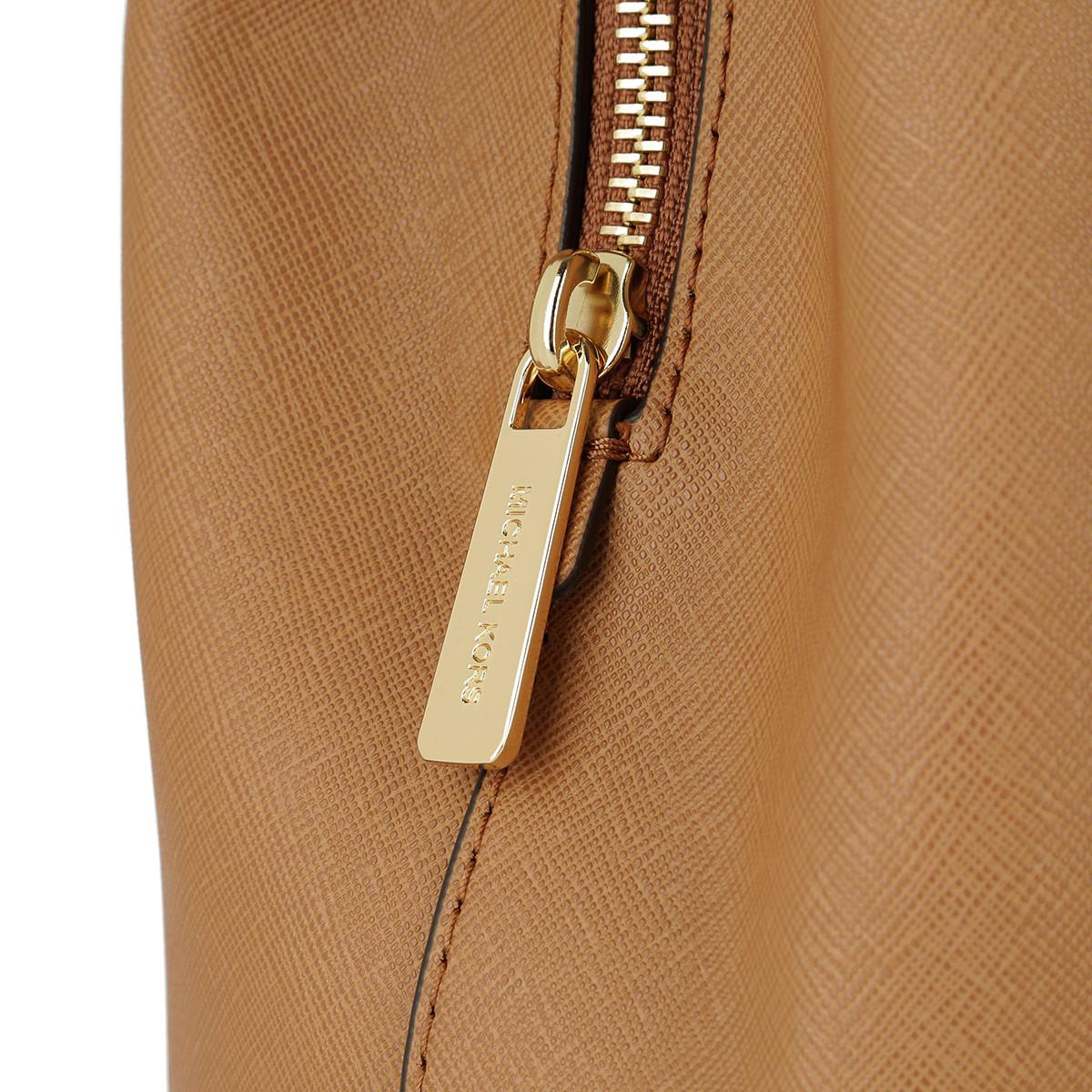 25356da19e7fc2 Michael Kors Savannah Lg Leather Satchel Acorn in Brown - Lyst